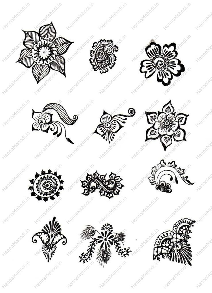 simple mehndi designs for beginners printable henna designs - Small Designs