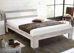 Futonbett in Sandeiche-NB und weiß Hochglanz, inklusive Matratze in weiß und Rollrost, Liegefläche 140 x 200 cm