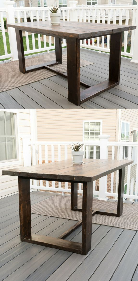 Build Your Own Outdoor Dining Table Diy Patio Table Modern