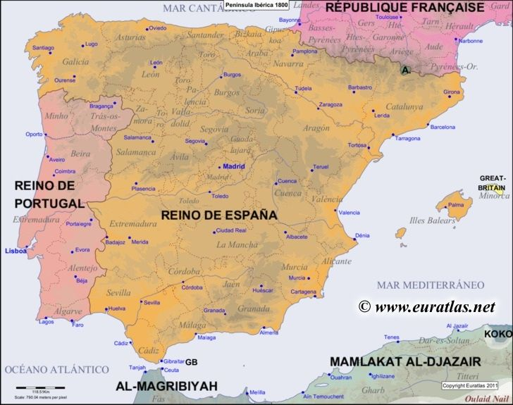 Iberian peninsula map on Pinterest | Best holiday places ...