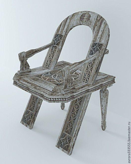 Мебель ручной работы. Ярмарка Мастеров - ручная работа. Купить стул Русский. Handmade. Серый, русский стиль, мебель резная
