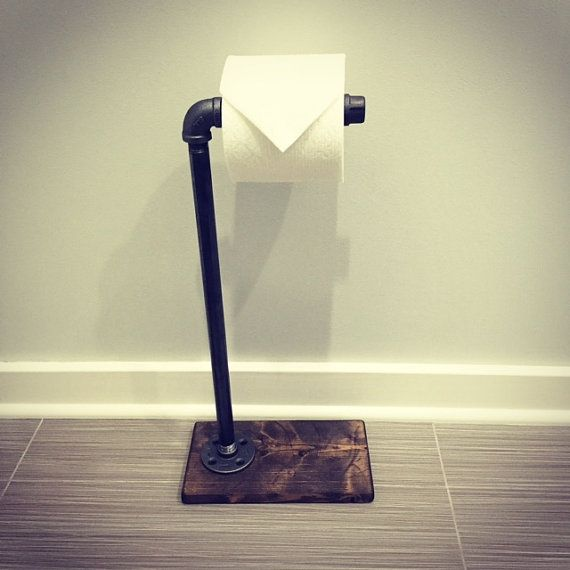 Superb Bathroom Toilet Paper Stand Part - 10: Industrial/Rustic Toilet Paper Stand/Holder/Wood/Pipe This Industrial,  Rustic
