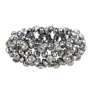 Silver lattice beaded bracelet by Jenny Packham (future beading project?)