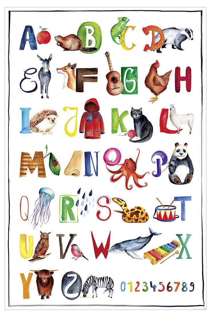 ABC Poster für Kinder   Kunstdruck fürs Kinderzimmer   Abc poster ...