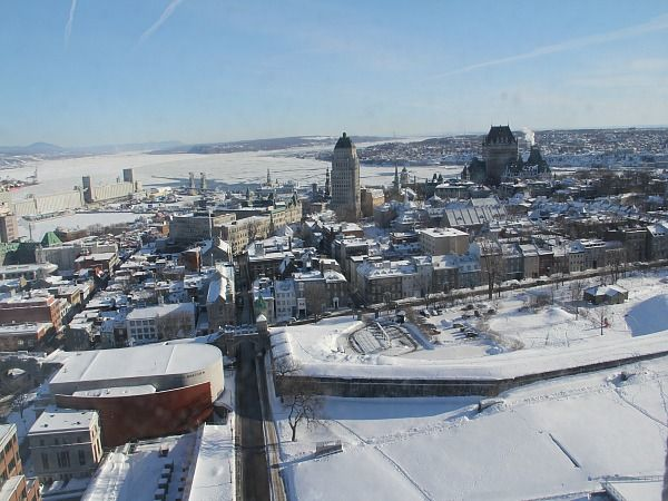 A Frosty, Carnaval-esque Killer View from the Hilton Quebec City on HotelChatter.com