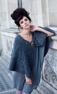 I like this cape, shouldn't be too hard to design something similar: Home Products, Knits Capes, Acorn Capes, Knits Fashion, Shawl Avoca Ireland, Knits Shawl, Avoca Luv, Photo, Beautiful Capes