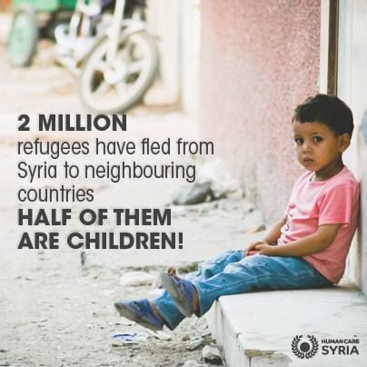 Whilst the conflict continues in Syria, children remain the most affected!. Thousands are living without food and shelter. Millions have fled, and are now trying to live without a home, without education, and without a family. With your support we have feed thousands. Pleas continue to help www.humancaresyria.org #syria #infographic