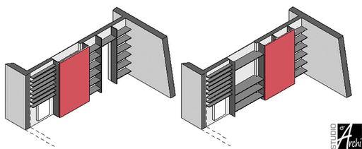 Porte coulissante à galandage, gain de place assuré ! | Studio d'archi