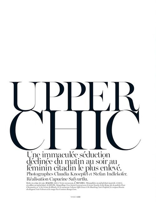 #vogue: Fashion, Inspiration, Style, Vogue Paris, Upper Chic, Vogue Fonts, Polyvore, Editorial Design, Editorialdesign