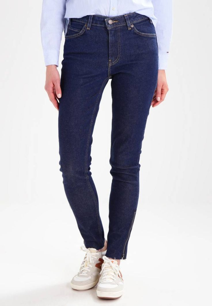 """Levi's®. 721 VINTAGE HIGH SKINNY - Slim fit jeans - indigo superstition. Outer fabric material:98% cotton, 2% spandex. Pattern:plain. Care instructions:do not tumble dry,machine wash at 30°C. outer leg length:40.0 """" (Size 27x34). Rise:high. Fit:Slim. Our model's height:..."""