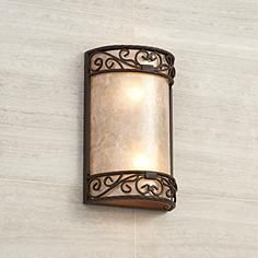"""Natural Mica Collection 12 1/2"""" H LED Wall Sconce"""