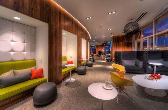 海外空港ラウンジデザイン/American Express Lounge at LaGuardia Airport, US