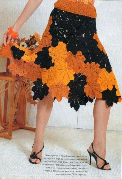 Falda combinada tricolor