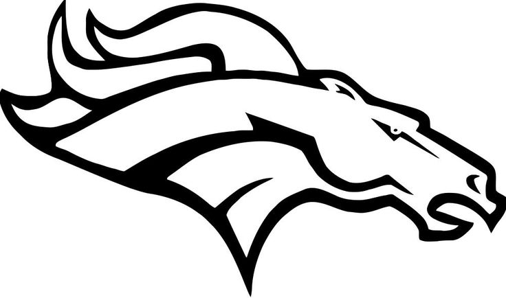 broncos logo coloring pages - photo#4