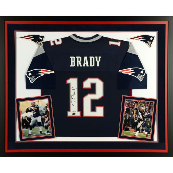Tom Brady New England Patriots Fanatics Authentic Deluxe Framed Autographed Navy Pro-Line Jersey - TRISTAR - $1749.99