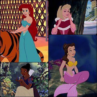 Image result for disney princesses dressed as each other