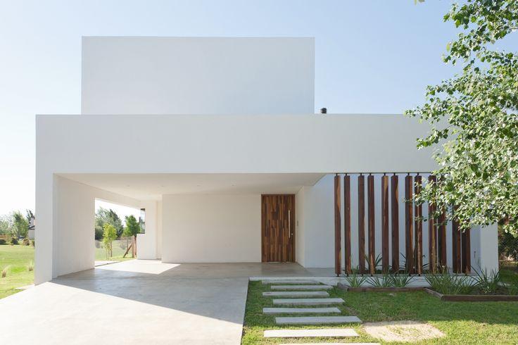 Diseño de casa de dos pisos - vista fachada