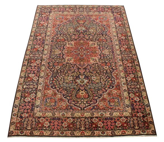 Vintage Persian Rug turkish rug afghan rug Tabriz Khoy Hand