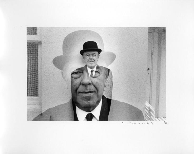 Rene Magritte in Bowler Hat (Multiple Exposure), 1965  by Duane Michals.