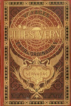 Jules Verne. Hector Servadac, Voyages et aventures à travers le monde solaire. Edition originale. Magnifique cartonnage. Lot 422. Mise en vente le 15 septembre 2017.