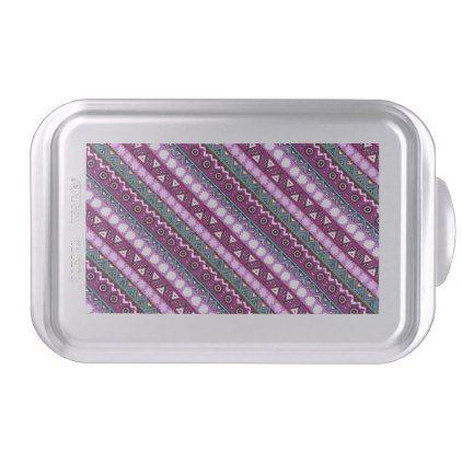 Colorful ethnic patterns design cake pan - pattern sample design template diy cyo customize