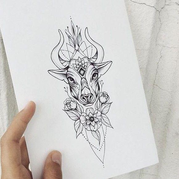 Stier sternzeichen frau tattoo