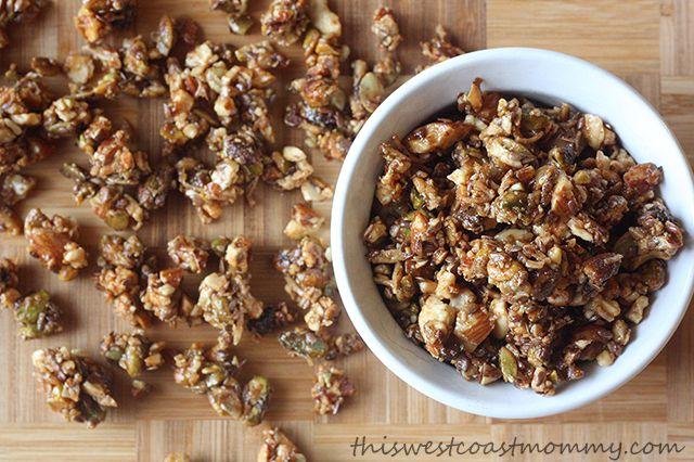 Homemade gluten-free, grain-free, paleo-friendly granola. Delicious and nutritious!