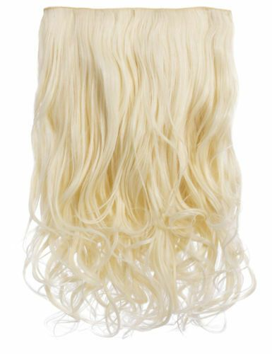 NEW WOMENS CURLY CLIP IN 1 PIECE SET WEFT HAIR EXTENSIONS KOKO UK STOCK 20″#PIECE#SET#WEFT