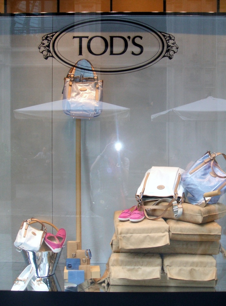 Tod's window display in Milan, Italy