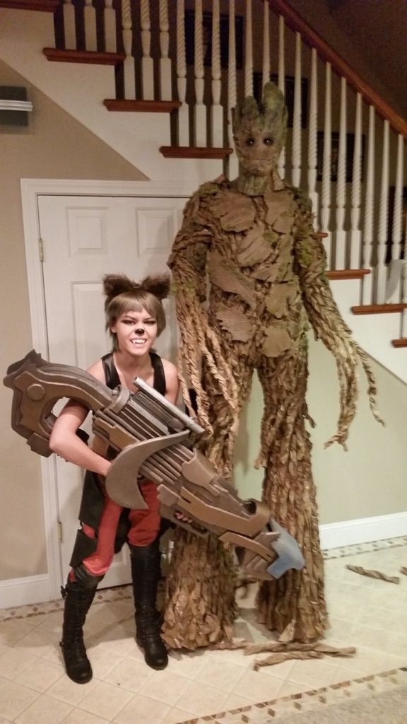 made an account after three years of lurking just to show you guys the groot costume i made im rocket - Best Halloween Costumes For Tall Guys