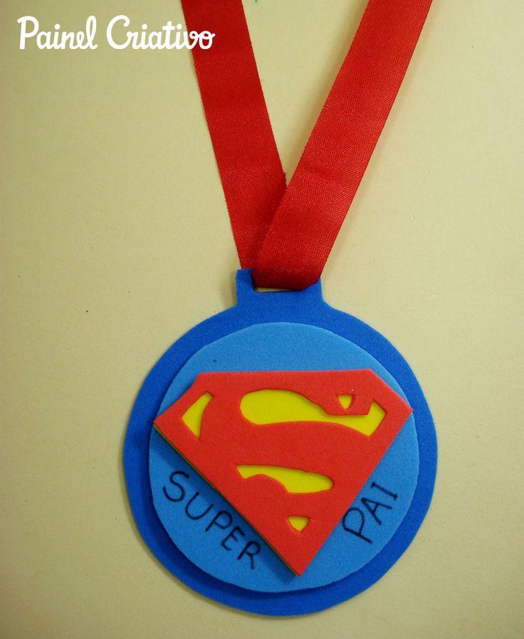 Como fazer lembrancinha dia dos pais medalha em EVA