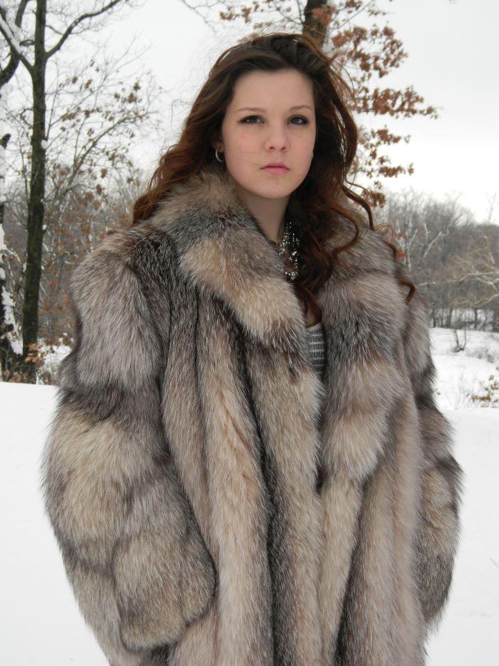 Crystal Fox Fur Coat. | Fur | Pinterest | Fox fur, Fur coat and Fur