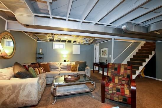 Try painting basement ceiling instead of ceiling tiles or drywall.