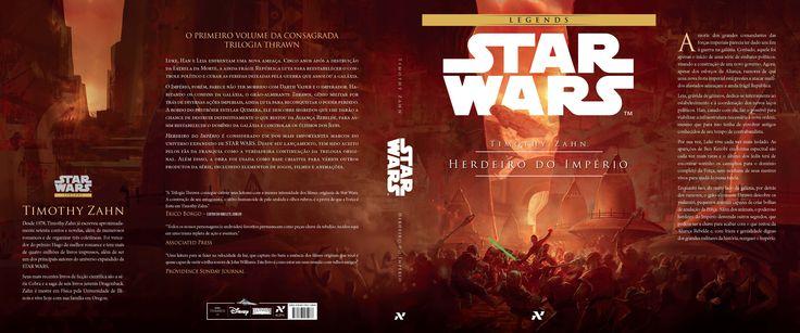 cover do livro 1 de Star Wars Legends Ascensão da Força Sombria da série Trilogia Thrawn pela editora Aleph