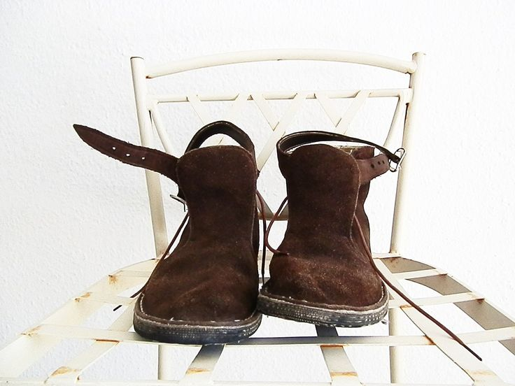 Leather boots vintage size 38