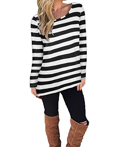 Kilig Women's Casual Long Sleeve Cotton Halloween Stripes T-shirt Tops(Black,S) - Features:1.Long Sleeve, Black and White Stripes & Red and White Stripes 2.Classy high quality fabric, very comfortable to touch and wear.3.Good for daily wear in Spring, Summer, Autumn.Where's Waldo costume 4.Colors may appear slghtly different via website due to computer picture resolution and m...