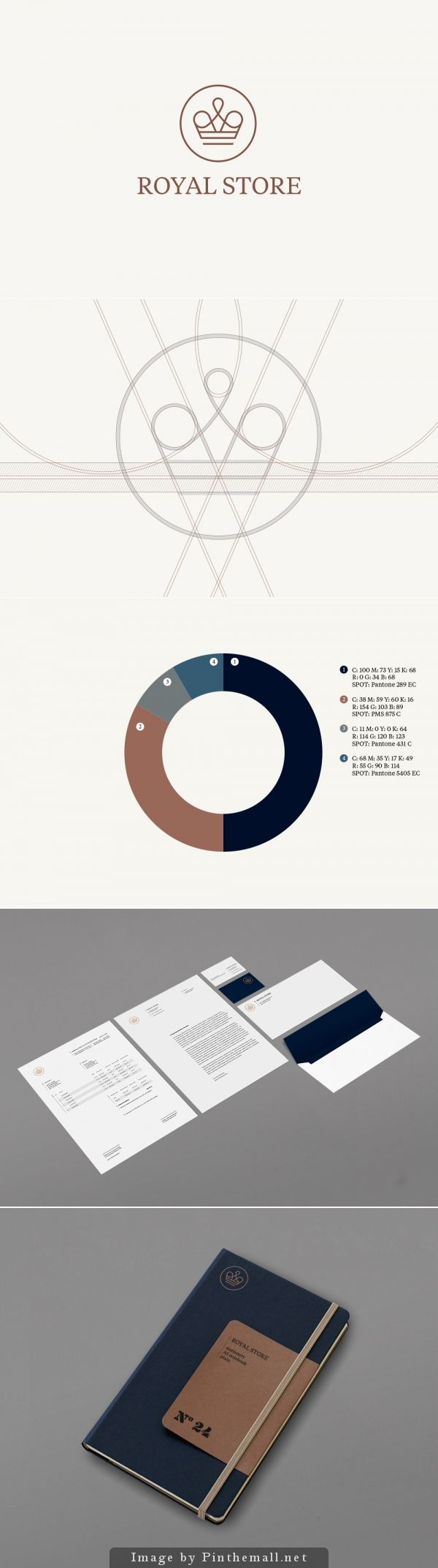 royal store / fuerte | #stationary #corporate #design #corporatedesign #identity #branding #marketing < repinned by www.BlickeDeeler.de | Visit our website: www.blickedeeler.de/leistungen/corporate-design
