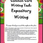 This bundle includes adaptable .doc and .ppt files for use in working through an Expository Common Core Writing Task.  Find it at http://www.teacherspayteachers.com/Product/Common-Core-Expository-Writing-Task-Teaching-Bundle-ADAPTABLE-to-ANY-text