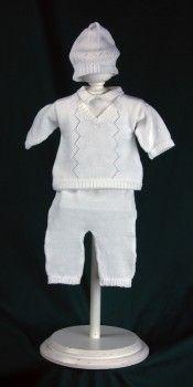 $43 Kent knit 3 piece outfit: shirt w/attached vest, pants, beanie.