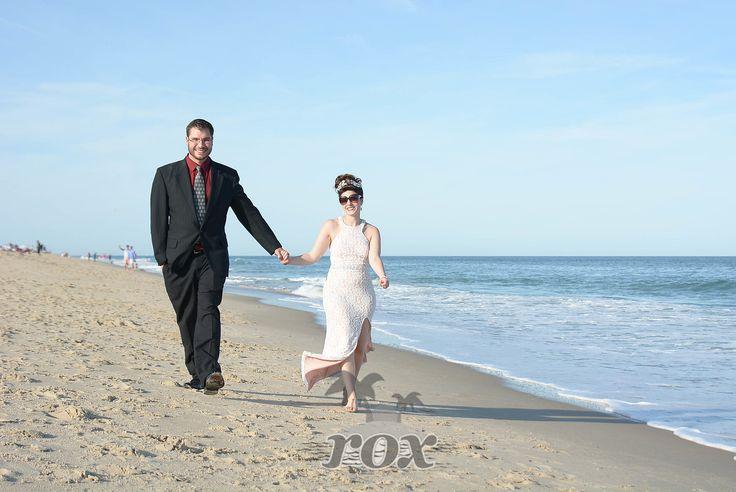 Just married on the beach in Bethany Beach, DE: https://www.roxbeachweddings.com/