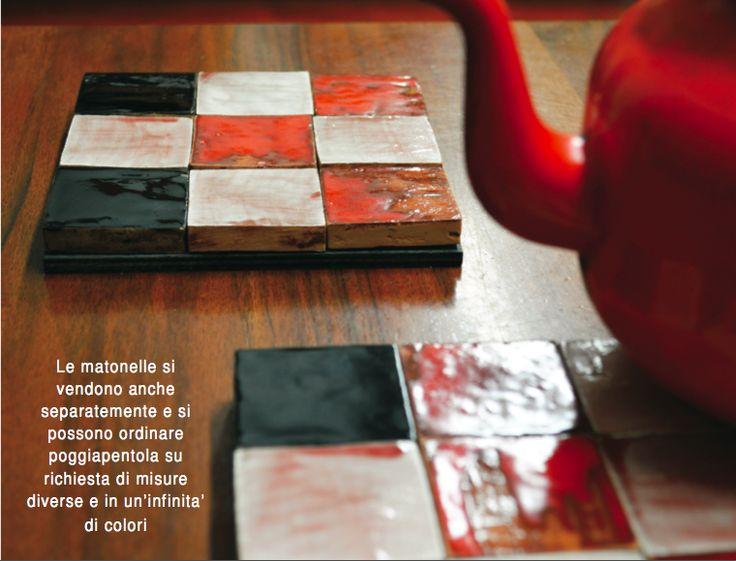 Poggiapentola in ceramica, design by Atelier Daniela Levera, salva manteles en ceramica diseño made in italy, ceramic trivet