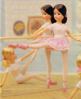 "1979 sindy ""active ballerina"" - my first fashion doll and ALWAYS better than barbie! i would pore over the little catalogues for hours... now she's been ""reinvented"" i.e. turned into a tarted-up bratz-a-like :C"