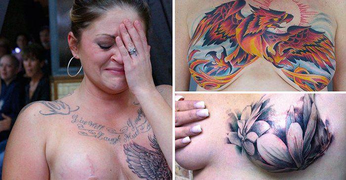 Padecer cáncer de mama puede ocasionar traumas que no son fácil de superar. Por eso estas mujeres decidieron convertir sus cicatrices en increíbles tatuajes.