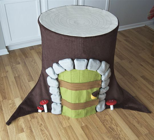 DIY:  Hula Hoop Gnome Home Playhouse