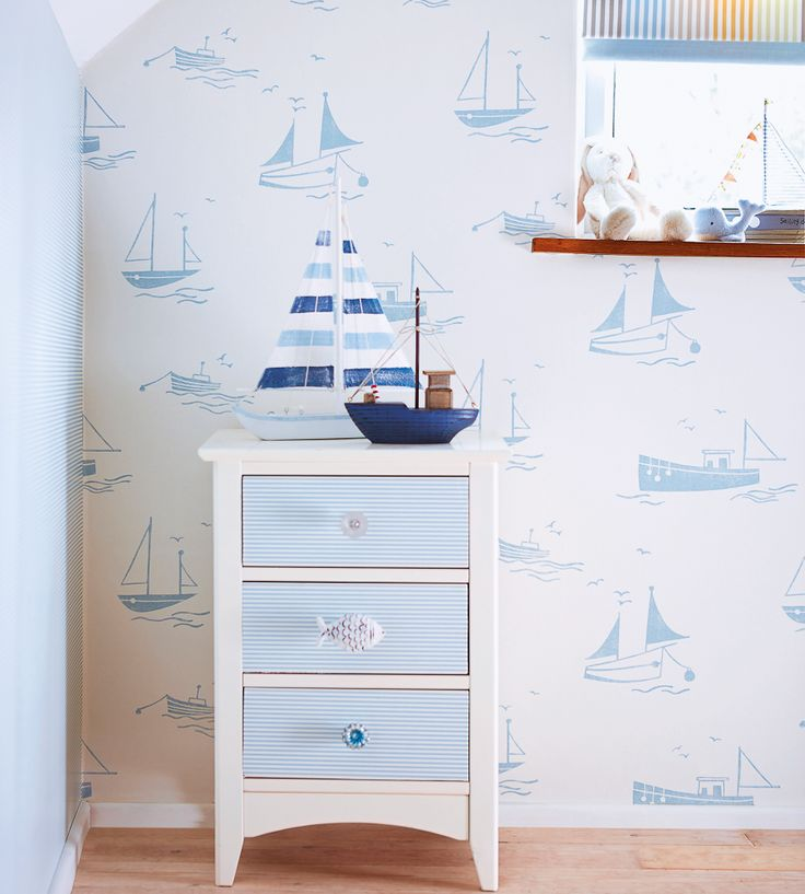 How to Style, Nurseries | Sail Away Wallpaper by Harlequin | Jane Clayton