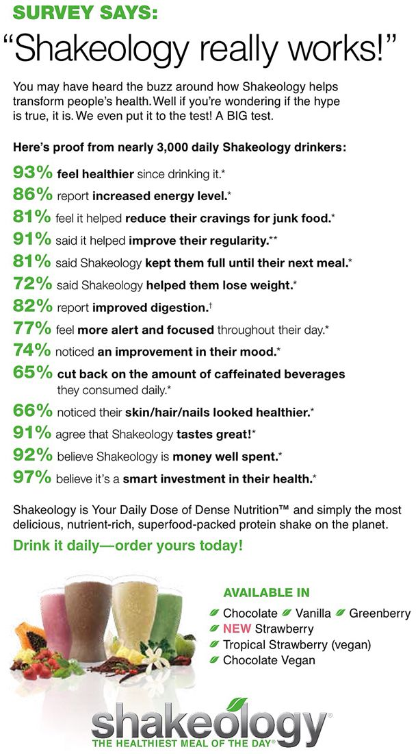 "Forget the individual Shakeology reviews. Close to 3,000 Shakeology Customers answered: ""Does Shakeology work?"" Check out the Shakeology results people have been getting!  http://papasteves.com"