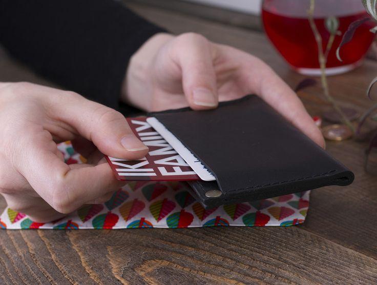 Brieftaschen - Visitenkartenetui, Lederetui für Karten, Geldbörse - ein Designerstück von POPEQ bei DaWanda
