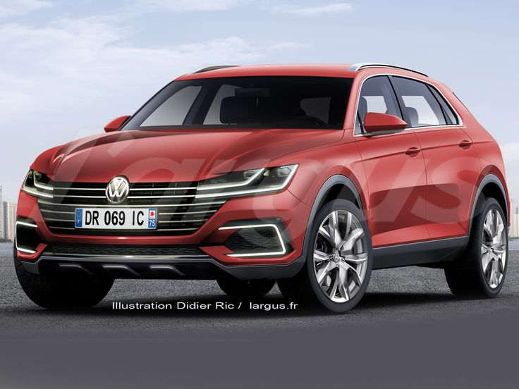 india bound 2016 vw tiguan inspired by sport coupe concept gte rendering cars daily. Black Bedroom Furniture Sets. Home Design Ideas