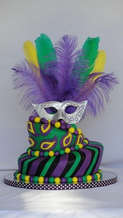 Mardi Gras Cake - Let Shelf Scouter make your trip to the store easier for Mardi Gras supplies #MardiGras www.shelfscouter.com