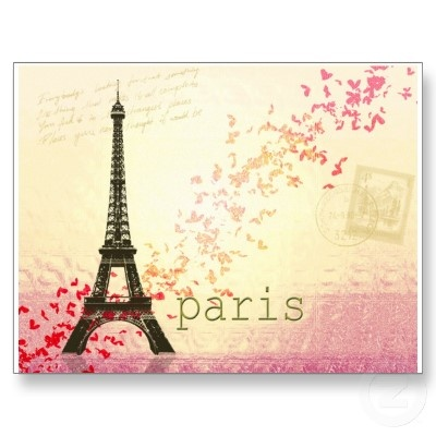 Love in Paris Postcards